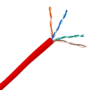 CableWholesale 10X6-071TH Bulk Cat5e Red Ethernet Cable, Solid, UTP (Unshielded Twisted Pair), Pullbox, 1000 foot