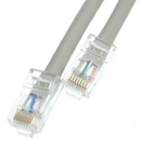 CableWholesale 10X6-12125 Cat5e Gray Ethernet Patch Cable, Bootless, 25 foot