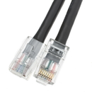 CableWholesale 10X6-12201 Cat5e Black Ethernet Patch Cable, Bootless, 1 foot