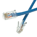 CableWholesale 10X6-16101 Cat5e Blue Ethernet Patch Cable, Bootless, 1 foot