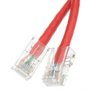 CableWholesale 10X6-17101 Cat5e Red Ethernet Patch Cable, Bootless, 1 foot