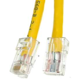 CableWholesale 10X6-18105 Cat5e Yellow Ethernet Patch Cable, Bootless, 5 foot