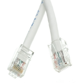 CableWholesale 10X6-19105 Cat5e White Ethernet Patch Cable, Bootless, 5 foot