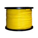 CableWholesale 11F1-001NH Bulk Plenum Zipcord Fiber Optic Cable, Singlemode, Duplex, 9/125, Yellow, Spool, 1000 foot