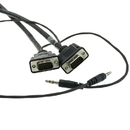 CableWholesale 11H1-29125 Plenum SVGA Cable w/ Audio, Black, HD15 Male + 3.5mm Male, Coaxial Construction, Shielded, 25 foot