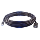 CableWholesale 11U2-51050 Plenum USB 2.0 High Speed Active Extension Cable, CMP, Type A Male to A Female, 50 foot