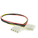 CableWholesale 11W3-04412 4 Pin Molex Cable, 5.25 inch Female to 5.25 inch Female, 12 inch
