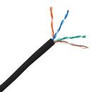 CableWholesale 11X6-022TH CAT5E, UTP, Bulk Cable, Solid, CMP/Plenum, 350MHz, 24 AWG, Black, 1000 ft