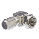 CableWholesale 200-107 F-pin Right Angle Adapter, F-pin Female to F-pin Male