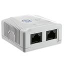 CableWholesale 300-313DE Cat5e Duplex Surface Mount Box, Unshielded