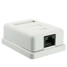 CableWholesale 300-313SE Cat 5e Single Surface Mount Box, Unshielded