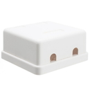 CableWholesale 300-314DE Blank Surface Mount Box for Keystones, 2 Hole, White