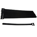 CableWholesale 30CT-06195 Hook and Loop Cable Strap w/ Eye, 0.50 inch x  9.5 inch, 10 Pack