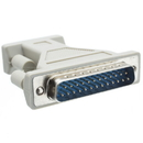 CableWholesale 30D1-05100 Serial / AT Modem Adapter, DB9 Male to DB25 Male