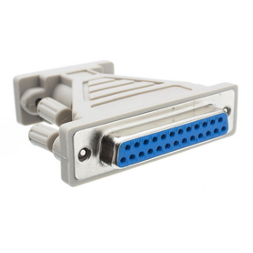 CableWholesale 30D1-05200 Serial / AT Modem Adapter, DB9 Male to DB25 Female