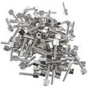 CableWholesale 30D1-22440 Hex Nut Jack Screw, 100 Pieces, # 4 - 40, 17.08mm