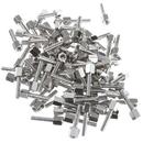 CableWholesale 30D1-22440 Hex Nut Jack Screw, 100 Pieces, # 4 - 40, 17.08mm