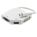 CableWholesale 30H1-62706 Mini DisplayPort to HDMI, VGA or DVI, 3-IN-1 Adapter