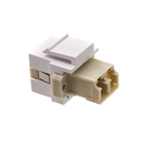 CableWholesale 30LC-LC400 Keystone, White, LC Fiber Optic Network Coupler