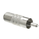 CableWholesale 30X3-03120 F-pin Female to RCA Male Adapter