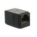 CableWholesale 30X6-02400BK Cat5e Coupler, Black, RJ45 Female, Unshielded