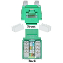 CableWholesale 310-120GR Cat5e Keystone Jack, Green, RJ45 Female to 110 Punch Down