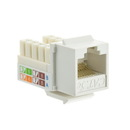 CableWholesale 310-120WH Cat5e Keystone Jack, White, RJ45 Female to 110 Punch Down