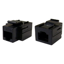 CableWholesale 310-220BK Cat5e Keystone Inline Coupler, Black, RJ45 Female