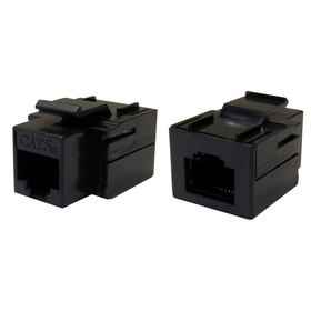 CableWholesale 310-220BK Cat 5e Keystone Inline Coupler, Black, RJ45 Female