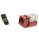 CableWholesale 311-120RD Cat5e Keystone Jack, Red, Toolless, RJ45 Female