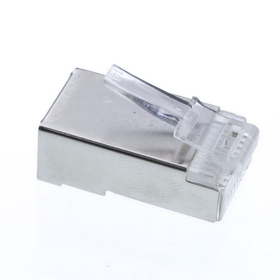 CableWholesale 31D0-51007 Shielded Cat5e RJ45 Crimp Connectors for Solid and Stranded Cable, STP, 8P8C, 50 Pieces