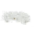 CableWholesale 31D0-6P4CS Phone / Data RJ11 Crimp Connectors for Stranded Wire, 6P4C, 50 Pieces