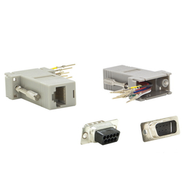 CableWholesale 31D1-17200 Modular Adapter, Gray, DB9 Male to RJ45 Jack