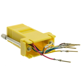 CableWholesale 31D1-1720YL Modular Adapter, Yellow, DB9 Male to RJ45 Jack