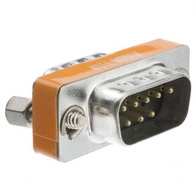 CableWholesale 31D1-28100 Mini Null Modem Adpater, DB9 Male to DB9 Male