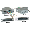 CableWholesale 31D3-36400 Modular Adapter, Gray, DB25 Female to RJ12