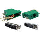 CableWholesale 31D3-3720GR Modular Adapter, Green, DB25 Male to RJ45