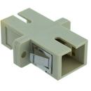 CableWholesale 31F2-CC400 Fiber Optic Coupler, SC/SC Female, Simplex, Plastic Housing