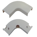 CableWholesale 31R1-001WH 3/4 inch Surface Mount Cable Raceway, White, Flat 90 Degree Elbow