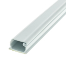 CableWholesale 31R2-000WH 1.25 inch Surface Mount Cable Raceway, White, Straight 6 foot Section