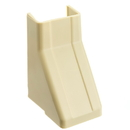 CableWholesale 31R2-004IV 1.25 inch Surface Mount Cable Raceway, Ivory, Ceiling Entry
