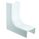 CableWholesale 31R2-009WH 1.25 inch Surface Mount Cable Raceway, White, Inside Corner/Base