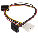 CableWholesale 31SA-005P Molex to Dual SATA Power Cable, 4 Pin Molex Male to Dual Serial ATA Female, 14 inch