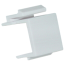 CableWholesale 321-120WH Blank Keystone Insert, White