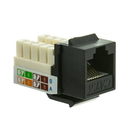 CableWholesale 326-120BK Cat6 Keystone Jack, Black, RJ45 Female to 110 Punch Down