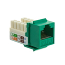 CableWholesale 326-120GR Cat6 Keystone Jack, Green, RJ45 Female to 110 Punch Down