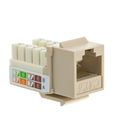 CableWholesale 326-120IV Cat6 Keystone Jack, Beige/Ivory, RJ45 Female to 110 Punch Down