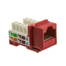CableWholesale 326-120RD Cat6 Keystone Jack, Red, RJ45 Female to 110 Punch Down