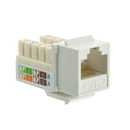 CableWholesale 326-120WH Cat6 Keystone Jack, White, RJ45 Female to 110 Punch Down