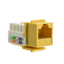CableWholesale 326-120YL Cat6 Keystone Jack, Yellow, RJ45 Female to 110 Punch Down